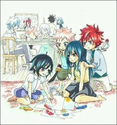 Fairy Tail - Families I don't ship lisanna and Natsu but this is too adorable not to pin