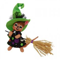 6in Spooky Dot Witch Mouse