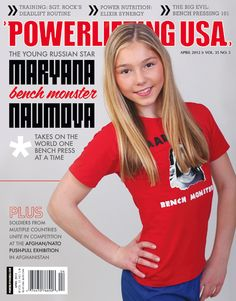 """""""Powerlifting USA April 2012 cover by Kelly Lambert of CRAFTEdesign"""" very impressive"""