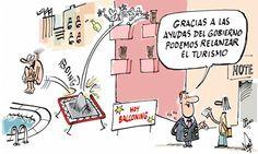 Ayudas del gobierno para 'relanzar' el turismo #crisis #humor #nosrobanlacartera