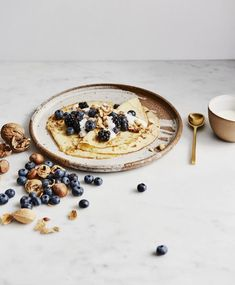 This Indulgent, Dairy-Free Breakfast Is A Recipe For Glowy Skin, Desserts, Coconut Crêpes With Coconut Yogurt & Berries This Indulgent, Dairy-Free Breakfast Is A Recipe For Glowy Skin. Breakfast And Brunch, Breakfast Options, Breakfast Recipes, Gourmet Recipes, Healthy Recipes, Cod Recipes, Chickpea Recipes, Noodle Recipes, Steak Recipes