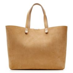 Victoria Beckham Simple Shopper Suede Tote ($1,430) ❤ liked on Polyvore featuring bags, handbags, tote bags, beige, shopping bag, beige handbags, suede purse, victoria beckham purses and shopper purses