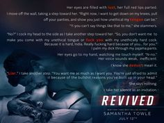Revived (Revved, by Samantha Towle Book Club Books, Book Lists, My Books, Contemporary Romance Novels, Relationship Books, Kinky Quotes, Life Philosophy, Book Boyfriends, Amazon Gifts