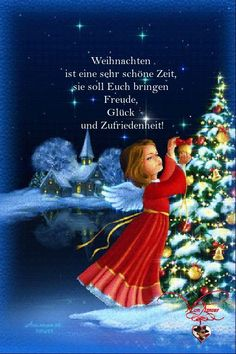 christmas wishes Weihnachten ist eine s - Merry Christmas Gif, German Christmas, All Things Christmas, Xmas, Joy And Happiness, Christmas Wallpaper, Birthday Quotes, Holidays And Events, Happy New Year