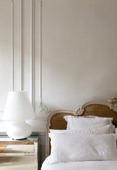Unique Home Decor Parisian bedroom decor inspiration with cane headboard and mirrored nightstand Home Design, Interior Design, Interior Colors, Patio Design, Interior Shop, Interior Office, Interior Livingroom, Interior Plants, Design Living Room
