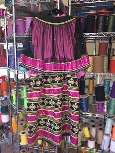 *Seminole patchwork skirt and capelet*