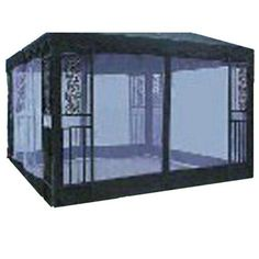 Gazebo Screen by Brookstone. $45.56. Great Gift Idea.. Design is stylish and innovative. Satisfaction Ensured.. Manufactured to the Highest Quality Available.. Gazebo Screen. Polyester Gazebo Screen This polyester Gazebo Screen continues a tradition of fine quality products. These beautiful accessories are designed to bring nature and beauty into your garden or home. Order from Brookstone today!. Save 26%!