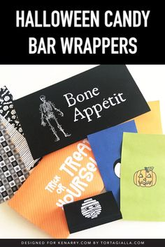 Add cute and sass to your candy stash with these Halloween candy bar wrappers. Print, trim the label and wrap for a basketful of fun treats to hand out for the kids! Halloween Candy Bar, Halloween Gifts, Spooky Halloween, Halloween Themes, Craft Projects, Crafts For Kids, Types Of Chocolate, Free Candy, Candy Bar Wrappers