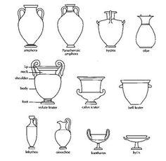 Super Genius Tricks: Copper Vases Green big vases with flowers.Glass Vases How To Make old vases creative. Ancient Greek, Ancient Art, Old Vases, Candle Vases, Greek Pottery, Vase Crafts, Vase Centerpieces, Vases Decor, Vase Shapes