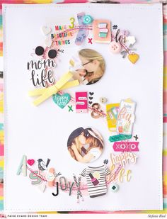 Even without flowers, Stefanie Ried sure knows how to make an amazing layout! By combining little bits and pieces from my first three col.