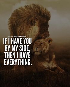 Relationship quotes - You can have all the money in the world, but what does it all mean if you don't have love Lioness Quotes, Lion Couple, Lion And Lioness, Fierce Lion, King Quotes, My Queen Quotes, Lion Love, Warrior Quotes, Couple Quotes