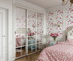 Bedroom modern closet 28 ideas for 2019 Shabby Chic Bedrooms, Modern Bedroom, Bedroom Decor, Bedroom Ideas, Modern Closet, Closet Layout, Woman Bedroom, Luxurious Bedrooms, Girl Room