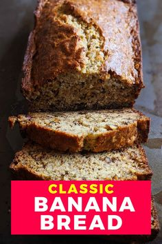 Looking for a classic banana bread recipe that is moist and full of flavour? This is Grandmas easy recipe that is perfect for breakfast, brunch or a healthy snack. This is not an eggless banana bread, it uses overripe bananas, butter, walnuts and sugar like old fashioned banana bread. A gluten-free dessert it is  perfect for everyone. Banana recipes. Gluten free desserts. Gluten free baking. Banana bread recipe moist. Homemade Banana Bread, Healthy Banana Bread, Gluten Free Baking, Gluten Free Desserts, Dessert Drinks, Dessert Recipes, Banana Bread Ingredients, Around The World Food, Overripe Bananas
