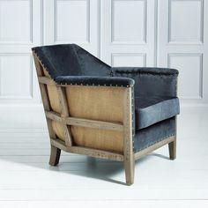 + | Hoxton Armchair in Grey Velvet - New In