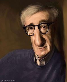 Caricatura de Woody Allen.