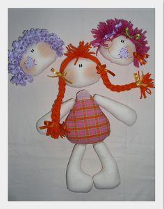 Projeto Brincando de Boneca.... Bonequinha Alegria aos Pedaços... by Atelier Eu & Voce by Andrea Malheiros, via Flickr