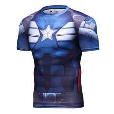 73e87ddda659f8 CAPTAIN AMERICA Compression Shirt for Men (Short Sleeve) #superhero #batman  #compressionshirt. I AM SUPERHERO