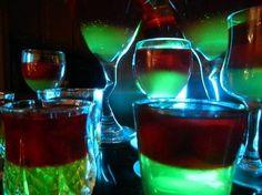 Variety of alcoholic shots