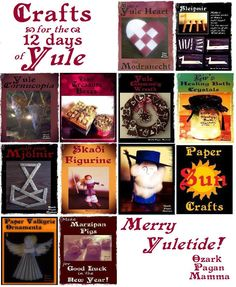 Crafts for the 12 Days of Yule - Ozark Pagan Mamma
