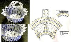 Once you are on the net you will get a better understanding about the right modele crochets. Filet Crochet, Crochet Motif, Crochet Doily Diagram, Crochet Doilies, Owl Basket, Cardigan Bebe, Easter Crochet Patterns, Love Crochet, Easter Baskets
