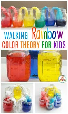 Kids will love making their very own walking rainbow from just three colors. This amazing walking rainbow experiment is the most fun walking water experiment ever! You'll have a blast with the rainbow walking water. Milk Science Experiment, Water Science Experiments, Science Experiments For Preschoolers, Walking Water Experiment, Science Activities For Kids, Science Fun, Science Classroom, Science Center Preschool, Science Inquiry