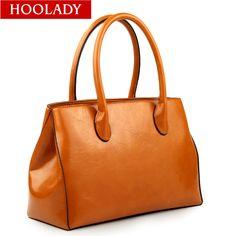 Hoolady 2013 women's oil leather handbag portable women's bags fashion one shoulder women's handbag, free shipping $89.90