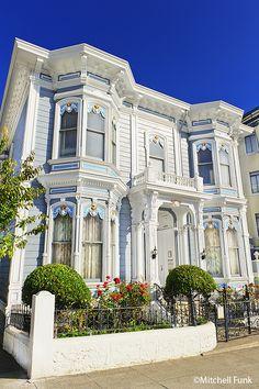 White Victorians House, San Francisco www.mitchellfunk.com