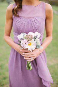 purple bridesmaid dress, photo by J.Bird Photography http://ruffledblog.com/austin-le-san-michele-wedding #weddingideas #bridesmaids