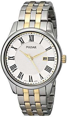 Men's Wrist Watches - Pulsar Mens PH9035 Traditional Collection Analog Display Japanese Quartz Silver Watch -- Learn more by visiting the image link.