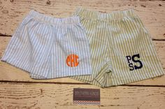 Seersucker Shorts or Swimsuit with Monogram by SouthernHandsLLC, $25.00