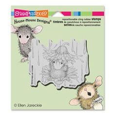 Stampendous House Mouse Cling Rubber Stamp Umbrella Ride