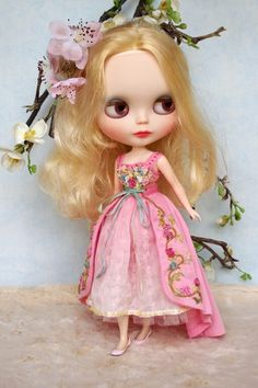Blythe Doll in Pink Dress