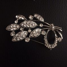 A brooch. Silver plating. Jewelry Brooches