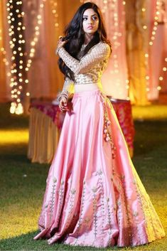 Pink Colour Taffeta And Silk Fabric Party Wear Lehenga Choli Comes With Matching Blouse. This Lehenga Choli Is Crafted With Embroidery. This Lehenga Choli Comes With Unstitched Blouse Which Can Be Sti. Indian Gowns Dresses, Indian Fashion Dresses, Indian Designer Outfits, Pakistani Dresses, Designer Dresses, Eid Dresses, Saree Fashion, Designer Sarees, Dress Fashion
