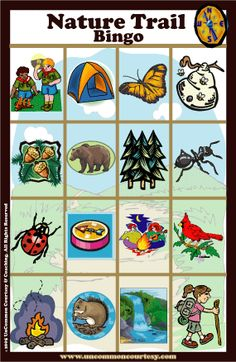 FUN - DAYS - Natural Trail/Camping Bingo - great for toddlers because there are pictures instead of words Camping Bingo, Kids Camping Gear, Camping In Ohio, Camping With Toddlers, Camping Parties, Camping Theme, Camping Activities, Toddler Camping, Nature Activities