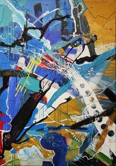 "Alexander Majer ""chronik"" 100 x 70 x 3,8 cm 2016 - acrylic on canvas"
