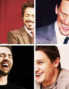 Robert Downey Jr., Tom Hiddleston, Chirs Evans and Jeremy Renner. :)