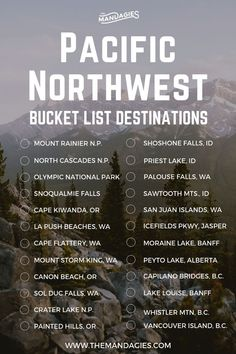This includes states like Washington, Oregon, Ida… Sponsored Sponsored Pacific Northwest Bucket List. This includes states Bucket List Destinations, Travel Destinations, British Columbia, Oregon Travel, Oregon Coast Roadtrip, West Coast Road Trip, Travel List, Travel Bucket Lists, Travel Checklist
