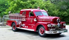1958 Seagrave pumper...A sturdy, well built truck that could maneuver easily through city streets.  Because of its modern design and hardiness many are still in service throughout North America...
