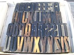 oh, how i wish i could buy this lot of wooden type.