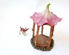 Fairy garden gazebo fairy garden furniture by FairyDustedMiniature