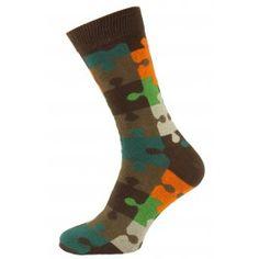 Brown Puzzle Men Socks