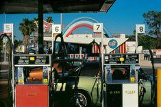 Gas Station, Los Angeles, CA 1982 Photographer Harry Gruyaert