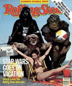 Honorable mention: Carrie Fisher dressed as Princess Leia in the slave bikini (1983).   The 25 Sexiest Rolling Stone Covers Of All Time