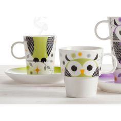 Image in owls collection by Green_Diamond on We Heart It Nocturnal Birds, Green Diamond, Sweet Home, House Design, Mugs, Tableware, Kitchen Utensils, Random, Baby