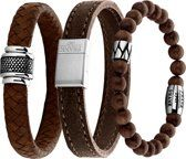 Frank 1967 7FR SET009 Armbanden Set Donkerbruin - 3 Stuks - Leer en Hout - One-size - Donkerbruin Bracelets, Accessories, Jewelry, Jewels, Schmuck, Jewerly, Bracelet, Jewelery, Jewlery