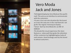 Digital display by Vero Moda .... VERY HI- TECH