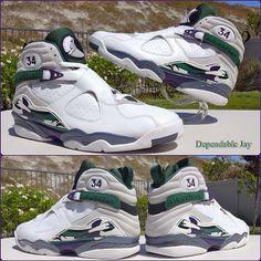 03bda1a316bb66 Ray Allen Air Jordan 8  Bucks  PE Cheap Jordan Shoes