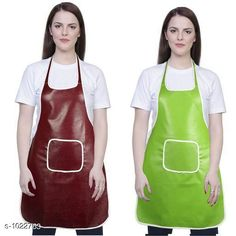 Aprons Classic Aprons ( Pack Of 2)  *Material * Apron - PVC  *Size (L x W)* Apron - 18  in x 28 in  *Description* It Has 2 Piece Of Kitchen Apron  *Pattern* Solid  *Sizes Available* Free Size *   Catalog Rating: ★4.2 (220)  Catalog Name: Hiba Lovely Aprons Combo Vol 1 CatalogID_123448 C129-SC1633 Code: 142-1022763-
