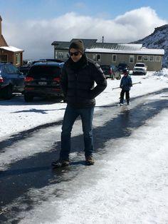 Slippery road at Mt. Ruapehu